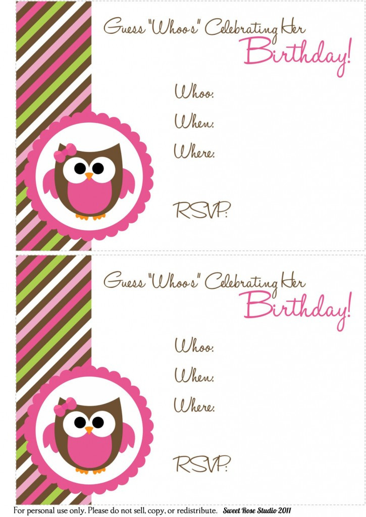 Best ideas about Printable Birthday Invitations . Save or Pin 41 Printable Birthday Party Cards & Invitations for Kids Now.