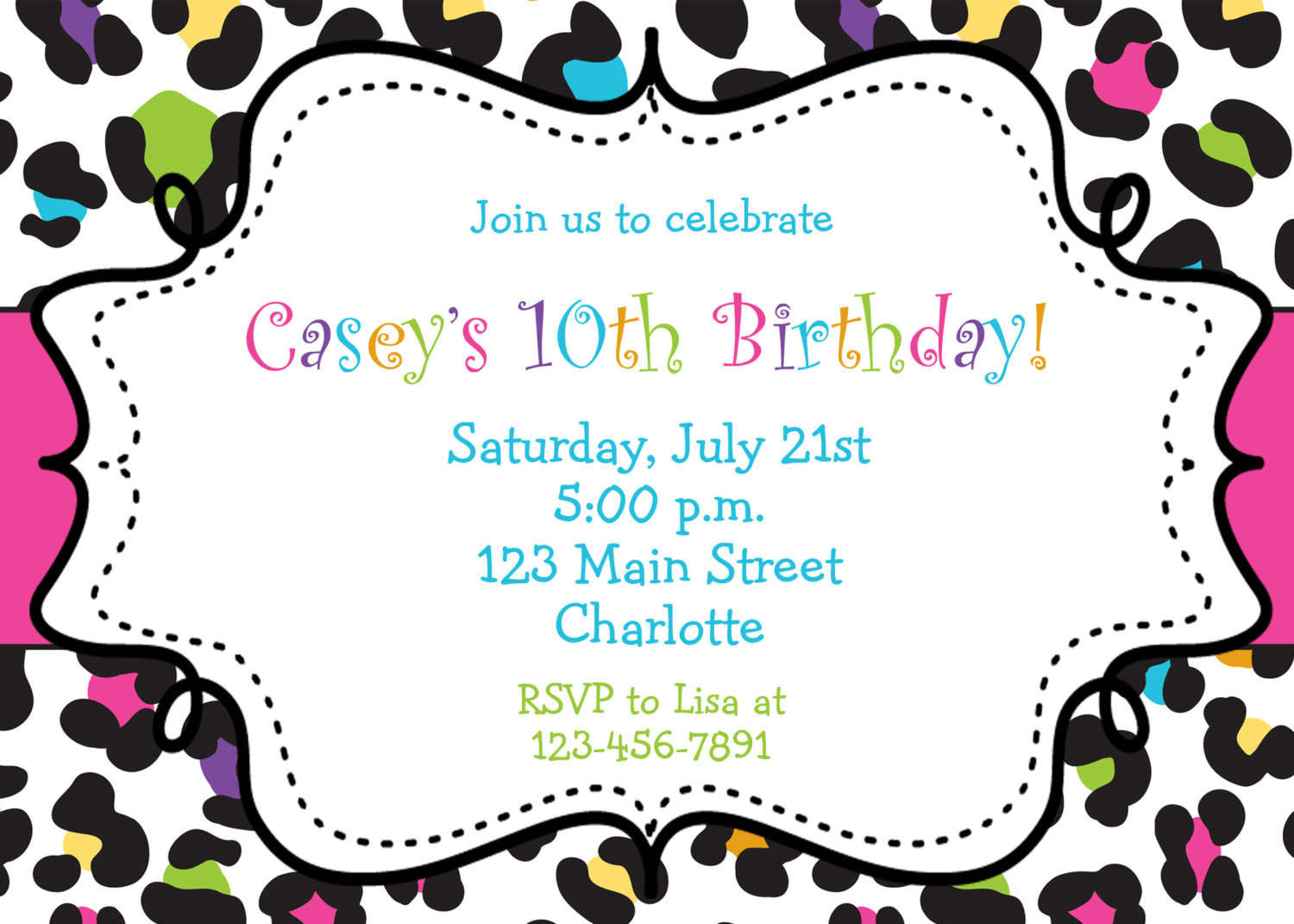 Best ideas about Printable Birthday Invitations . Save or Pin Birthday Invitations Browsing Exclusive Animal Print Themed Now.