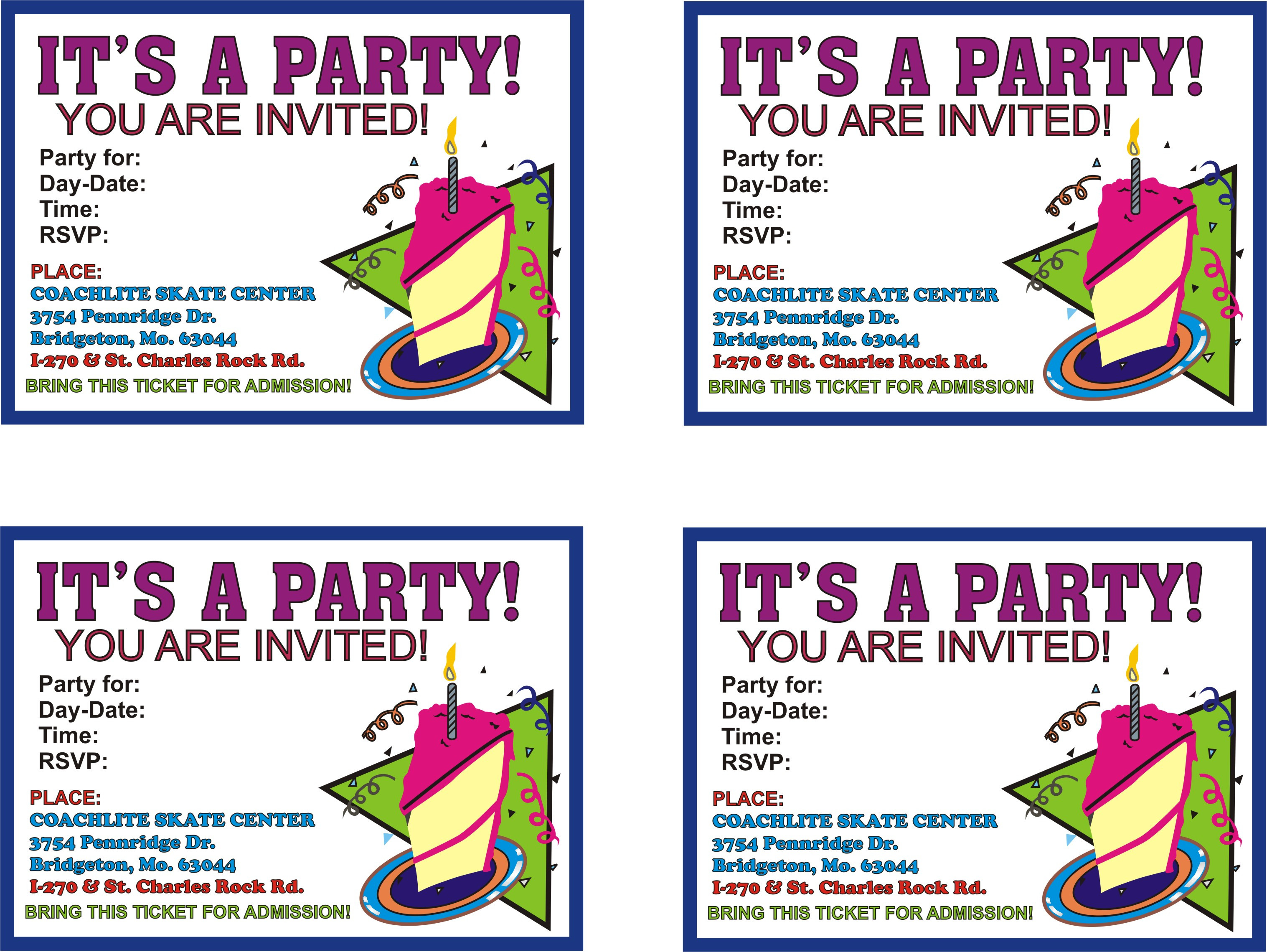 Best ideas about Printable Birthday Invitations . Save or Pin Birthday Parties Now.