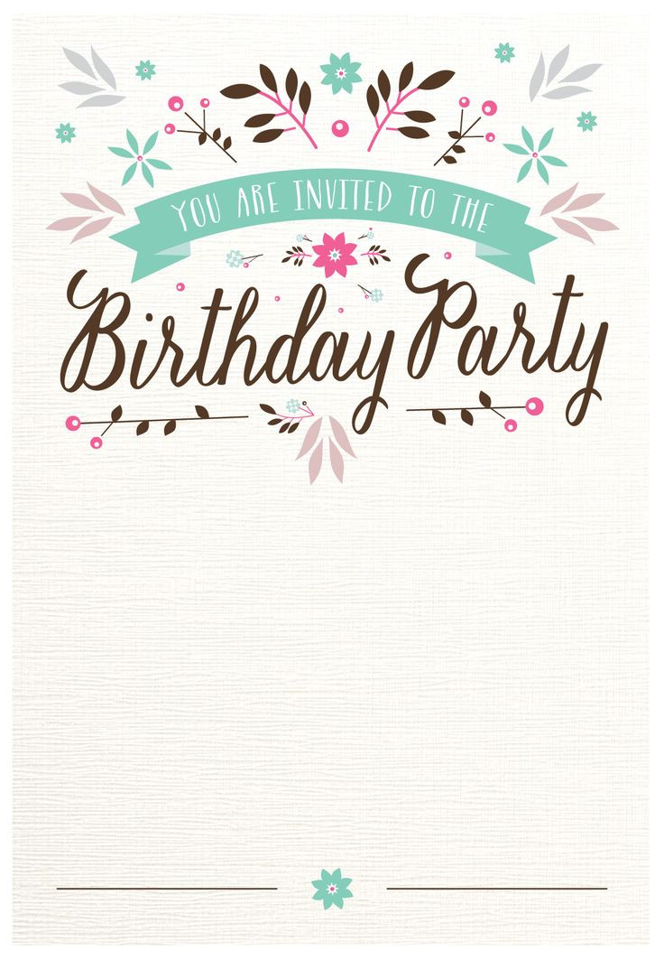 Best ideas about Printable Birthday Invitations . Save or Pin 25 best ideas about Free invitation templates on Now.