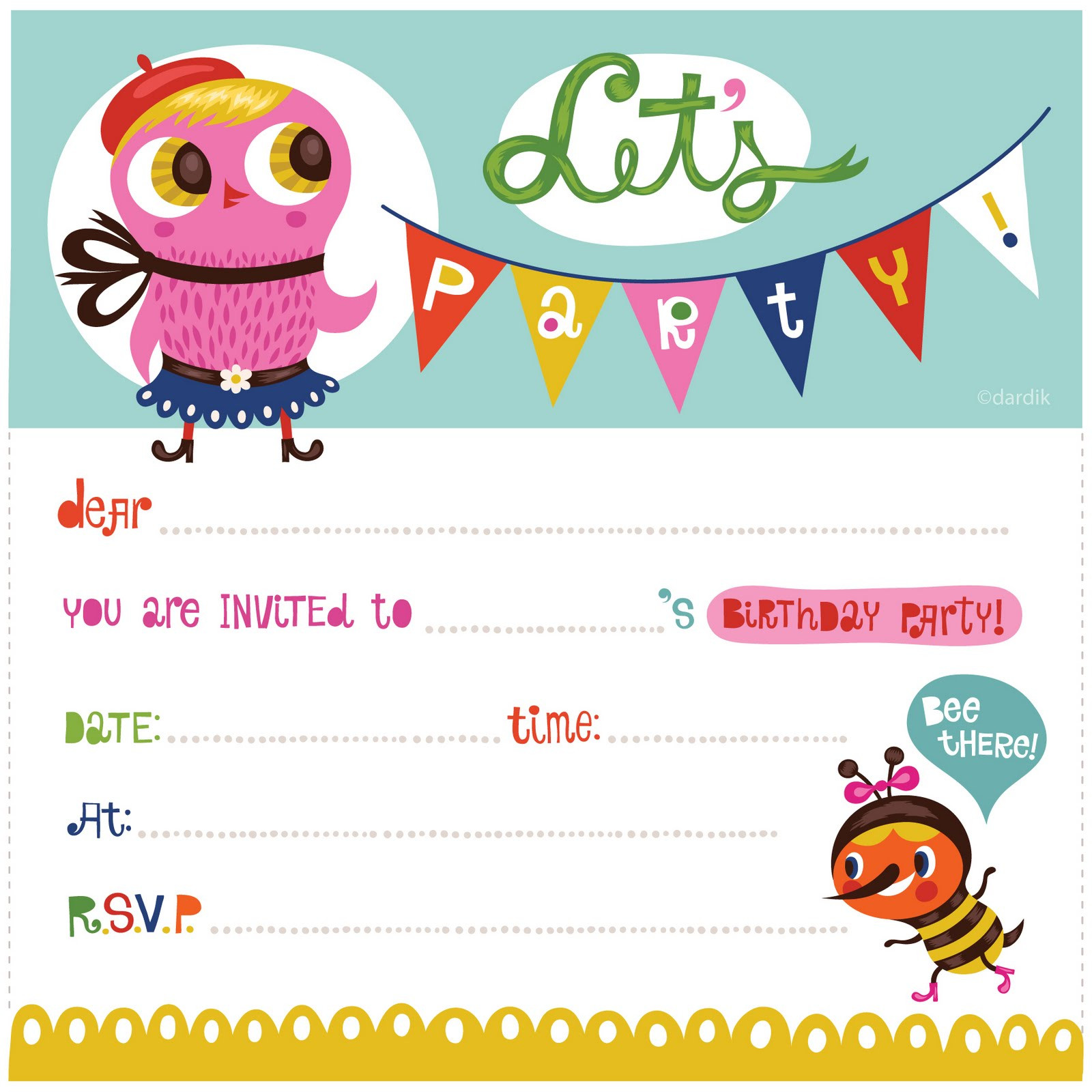 Best ideas about Printable Birthday Invitations . Save or Pin Free Printable Birthday Party Invitations Now.