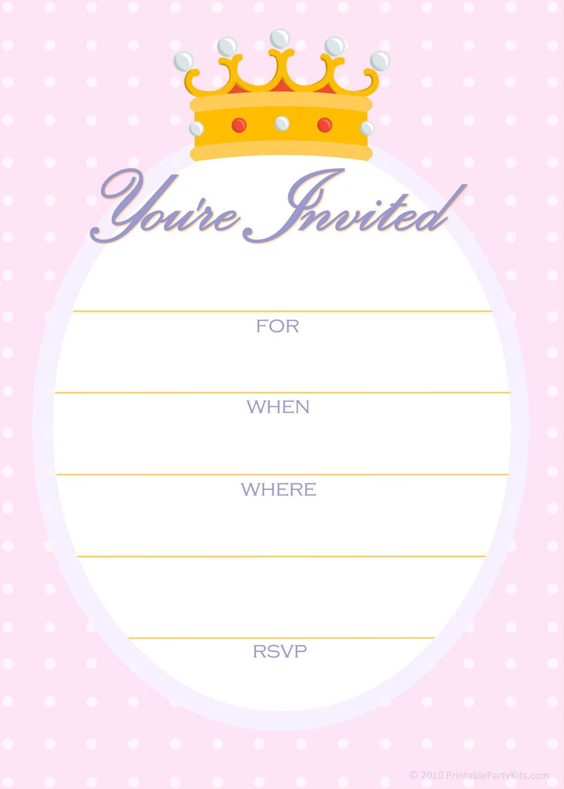 Best ideas about Printable Birthday Invitations . Save or Pin FREE Printable Golden Unicorn Birthday Invitation Template Now.