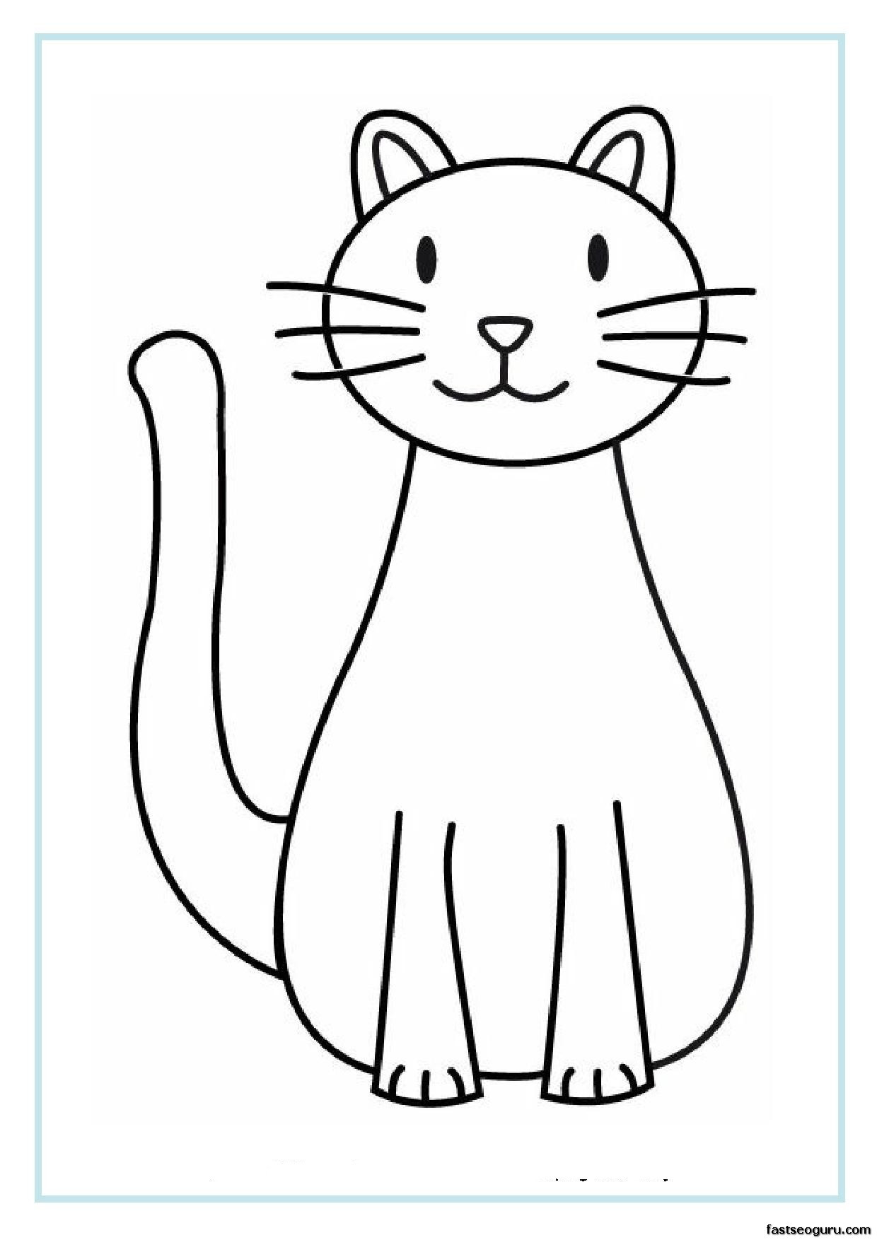 Best ideas about Printable Cat Coloring Pages For Kids . Save or Pin 1000 images about Drawing Ideas for Kids on Pinterest Now.