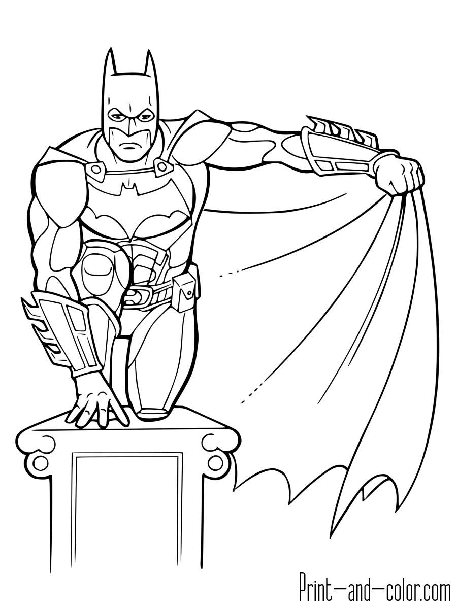 Best ideas about Printable Coloring Pages Batman . Save or Pin Batman coloring pages Now.