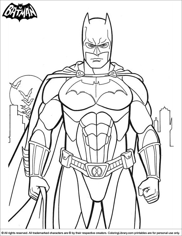 Best ideas about Printable Coloring Pages Batman . Save or Pin Batman coloring sheet for kids Coloring Library Now.