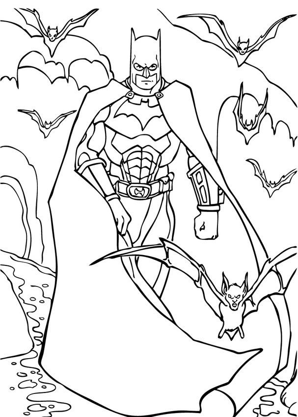 Best ideas about Printable Coloring Pages Batman . Save or Pin Batman and his armor coloring pages Hellokids Now.