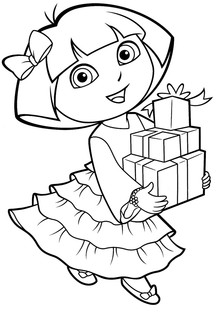 Best ideas about Printable Coloring Pages Dora . Save or Pin Printable Dora Coloring Pages Now.