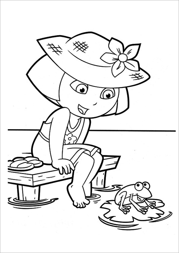 Best ideas about Printable Coloring Pages Dora . Save or Pin 19 Dora Coloring Pages – PDF PNG JPEG EPS Now.