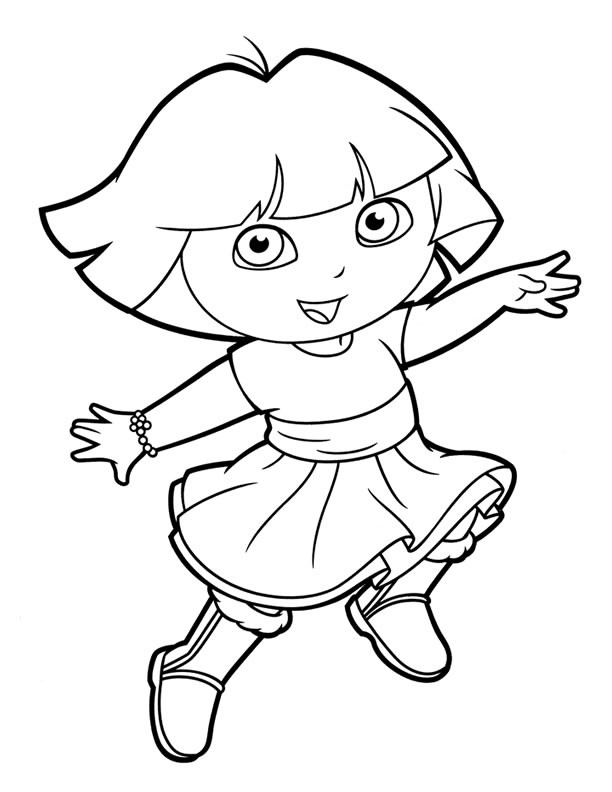 Best ideas about Printable Coloring Pages Dora . Save or Pin Dora Coloring Lots of Dora Coloring Pages and Printables Now.