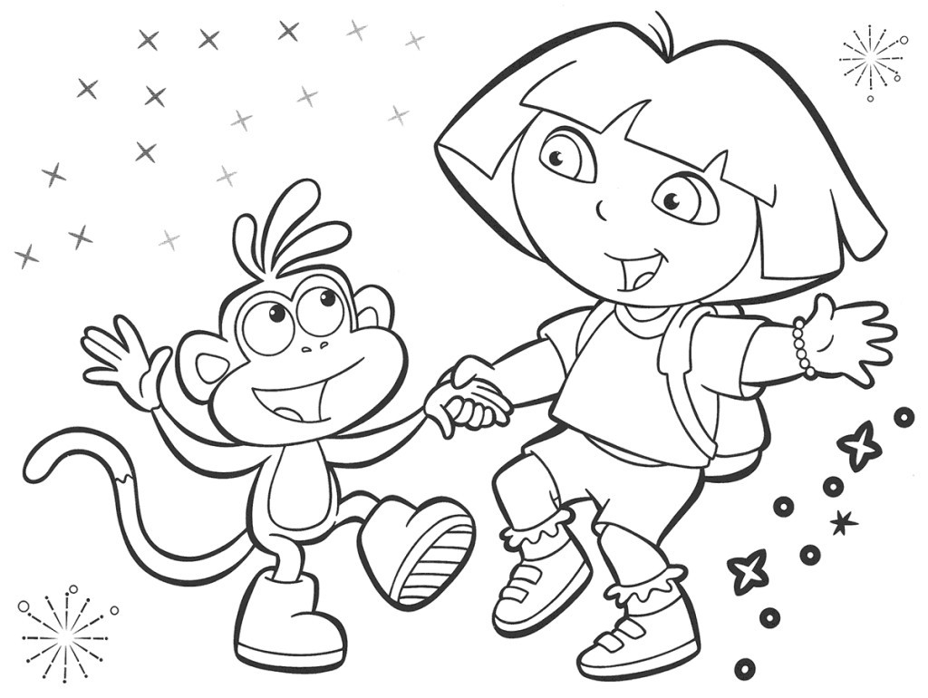 Best ideas about Printable Coloring Pages Dora . Save or Pin dora the explorer coloring pages Now.