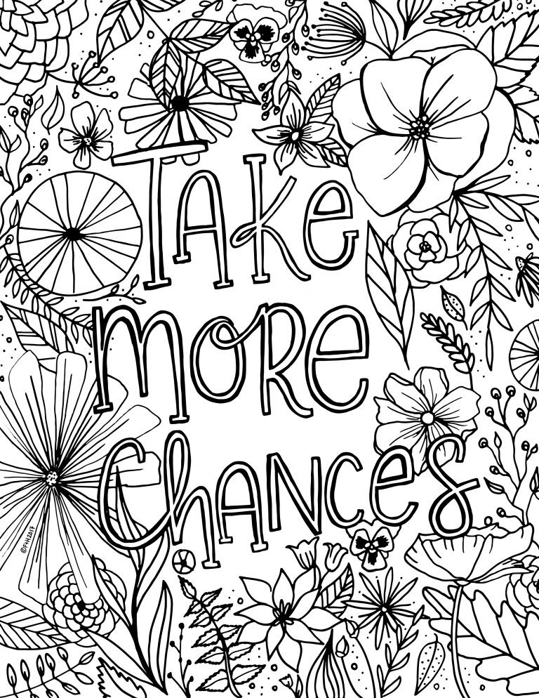 Best ideas about Printable Coloring Pages Flowers . Save or Pin Free Encouragement Flower Coloring Page Printable Now.