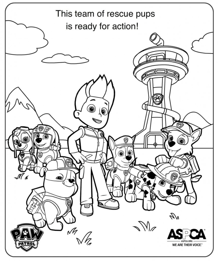Best ideas about Printable Coloring Pages For Boys Paw Patrol . Save or Pin Free Printable Paw Patrol Coloring Pages For Kids Now.