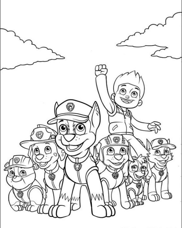 Best ideas about Printable Coloring Pages For Boys Paw Patrol . Save or Pin Free Nick Jr Paw Patrol printable coloring page for kids Now.