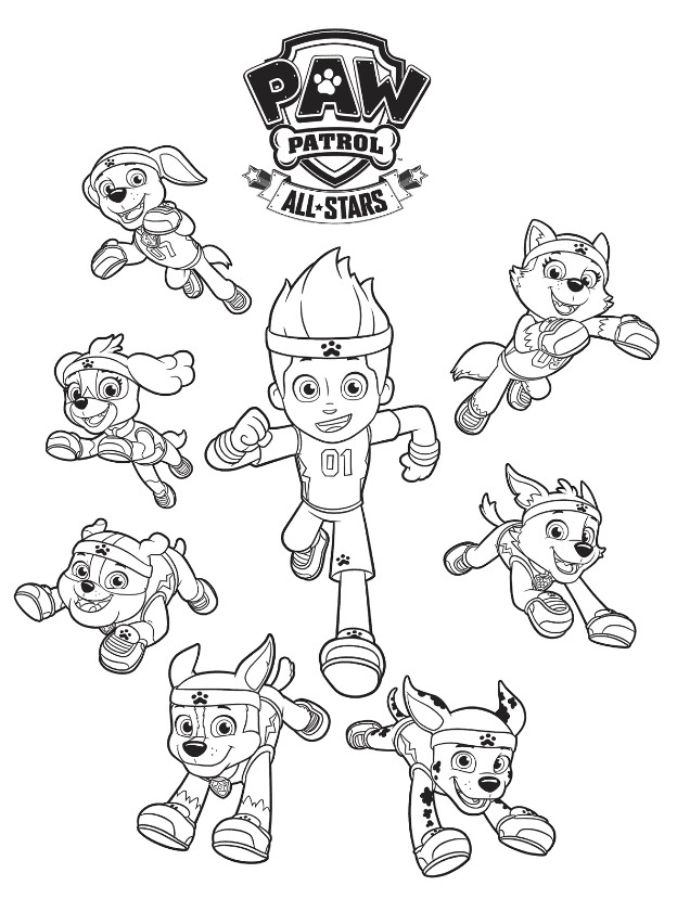 Best ideas about Printable Coloring Pages For Boys Paw Patrol . Save or Pin FREE PAW Patrol Coloring Pages Happiness is Homemade Now.