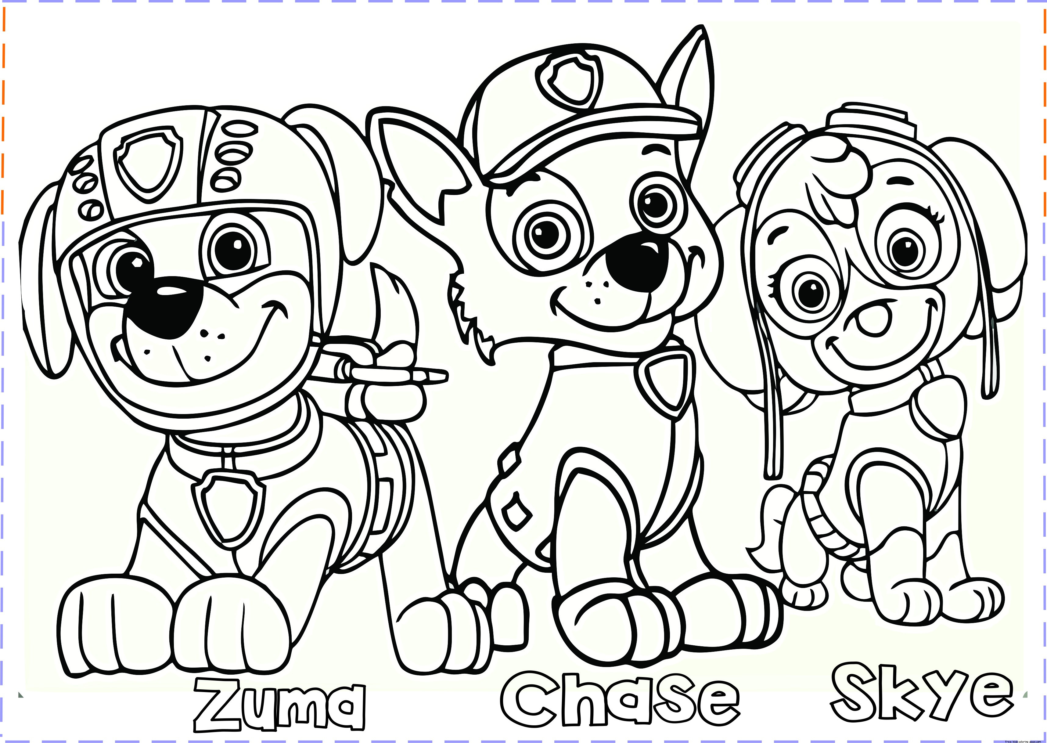 Best ideas about Printable Coloring Pages For Boys Paw Patrol . Save or Pin paw patrol coloring pages Free Printable Coloring Pages Now.