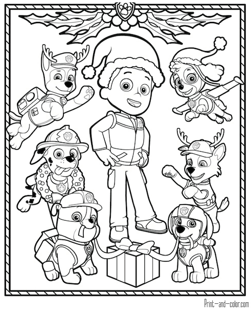 Best ideas about Printable Coloring Pages For Boys Paw Patrol . Save or Pin Paw Patrol coloring pages Now.