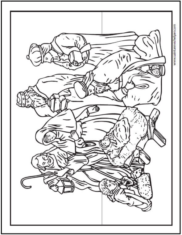 Best ideas about Printable Coloring Pages Nativity . Save or Pin 15 Printable Christmas Coloring Pages Jesus & Mary Now.