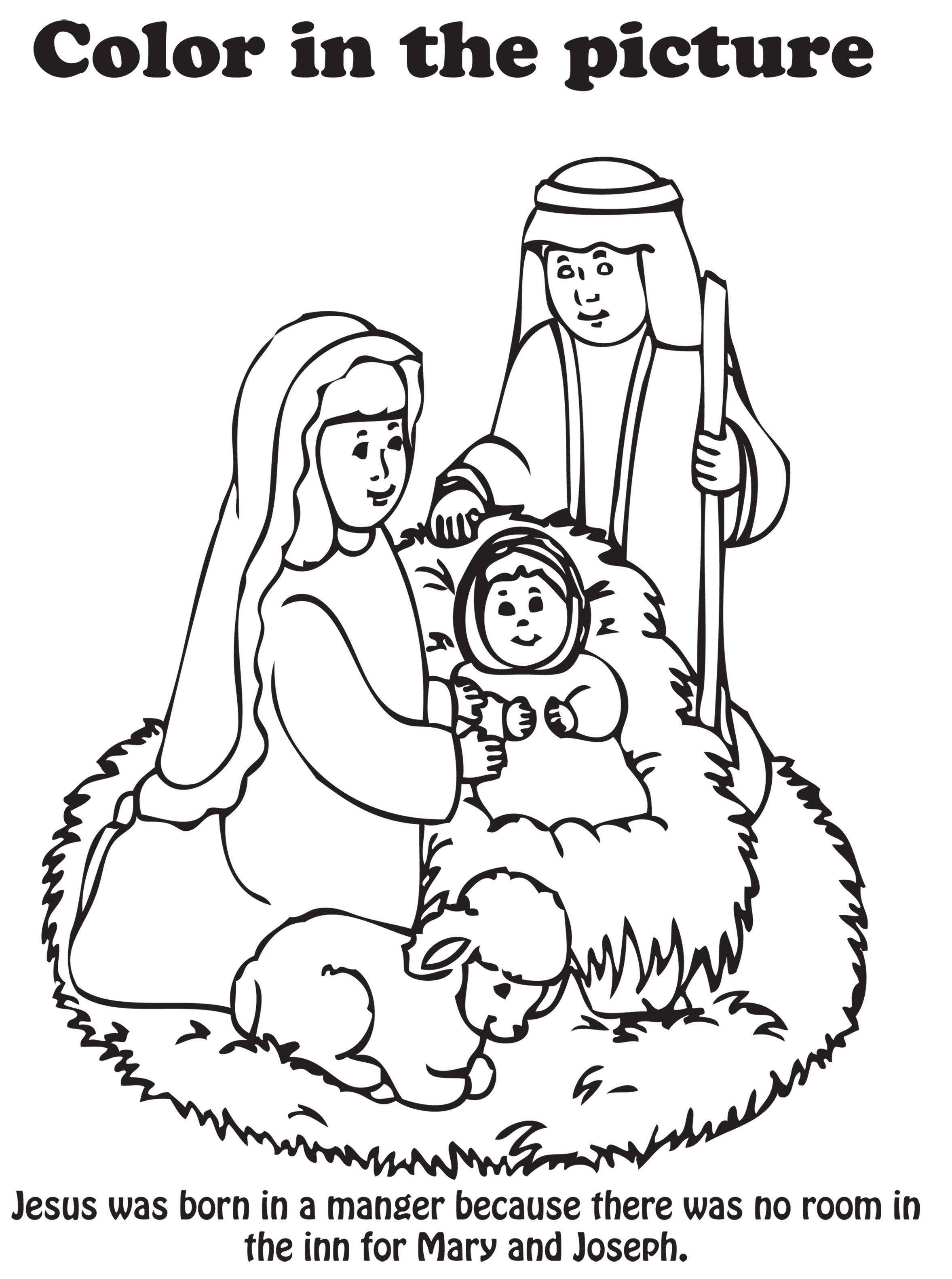 Best ideas about Printable Coloring Pages Nativity . Save or Pin Free Nativity Coloring Pages Printable Coloring Home Now.