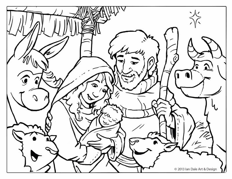 Best ideas about Printable Coloring Pages Nativity . Save or Pin Ian Dale Art & Design Now.