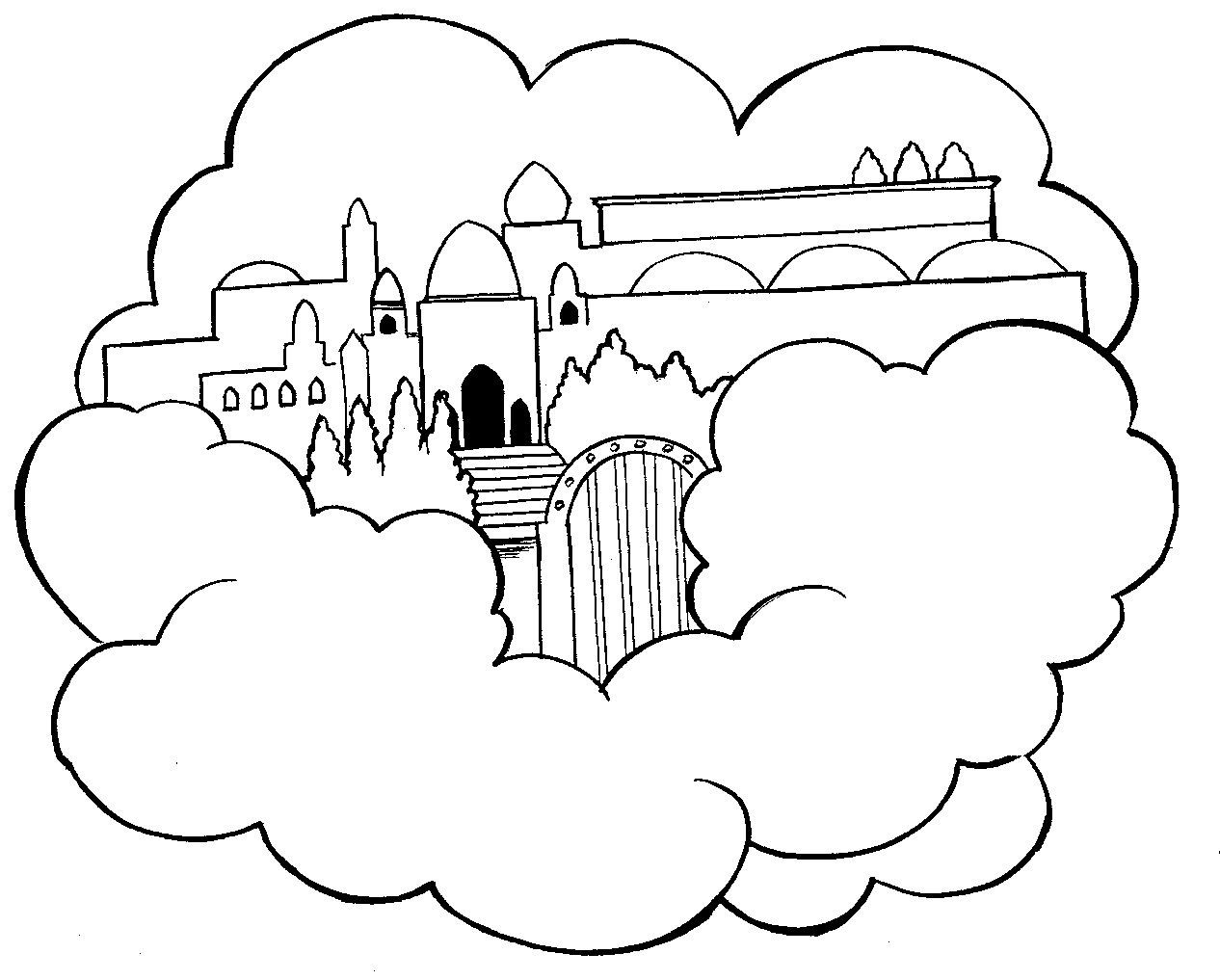Best ideas about Printable Coloring Pages Of Heaven . Save or Pin Heaven Coloring Pages Now.