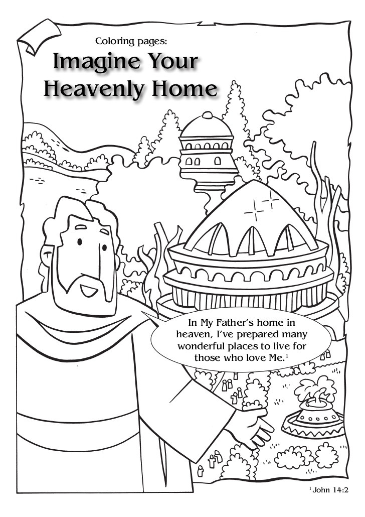 Best ideas about Printable Coloring Pages Of Heaven . Save or Pin Imagine yourheavenlyhome clringpg en Now.