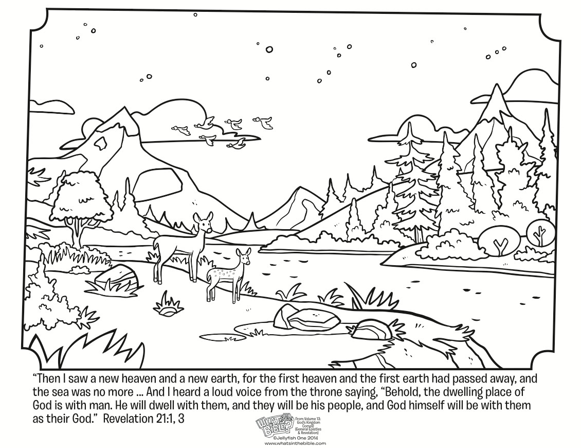 Best ideas about Printable Coloring Pages Of Heaven . Save or Pin Revelation 21 Coloring Page Whats in the Bible Now.