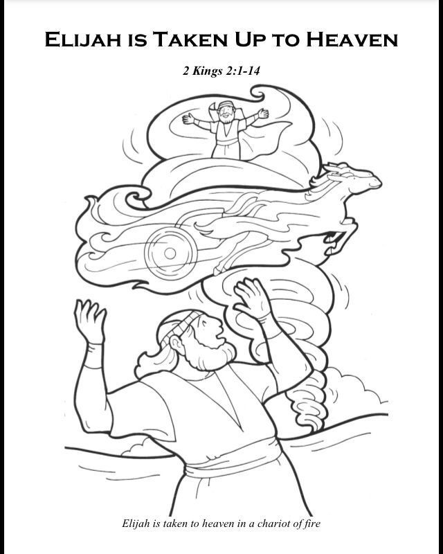 Best ideas about Printable Coloring Pages Of Heaven . Save or Pin Free Coloring Pages Elijah Goes To Heaven Now.