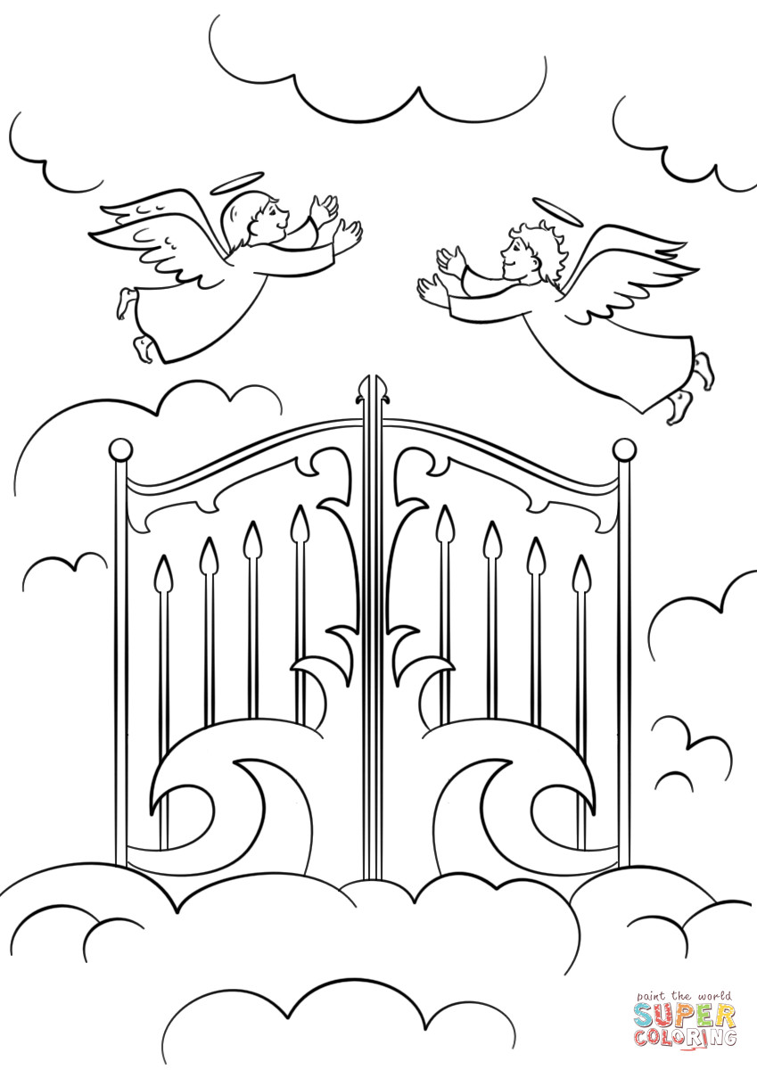 Best ideas about Printable Coloring Pages Of Heaven . Save or Pin Heaven s Gates coloring page Now.
