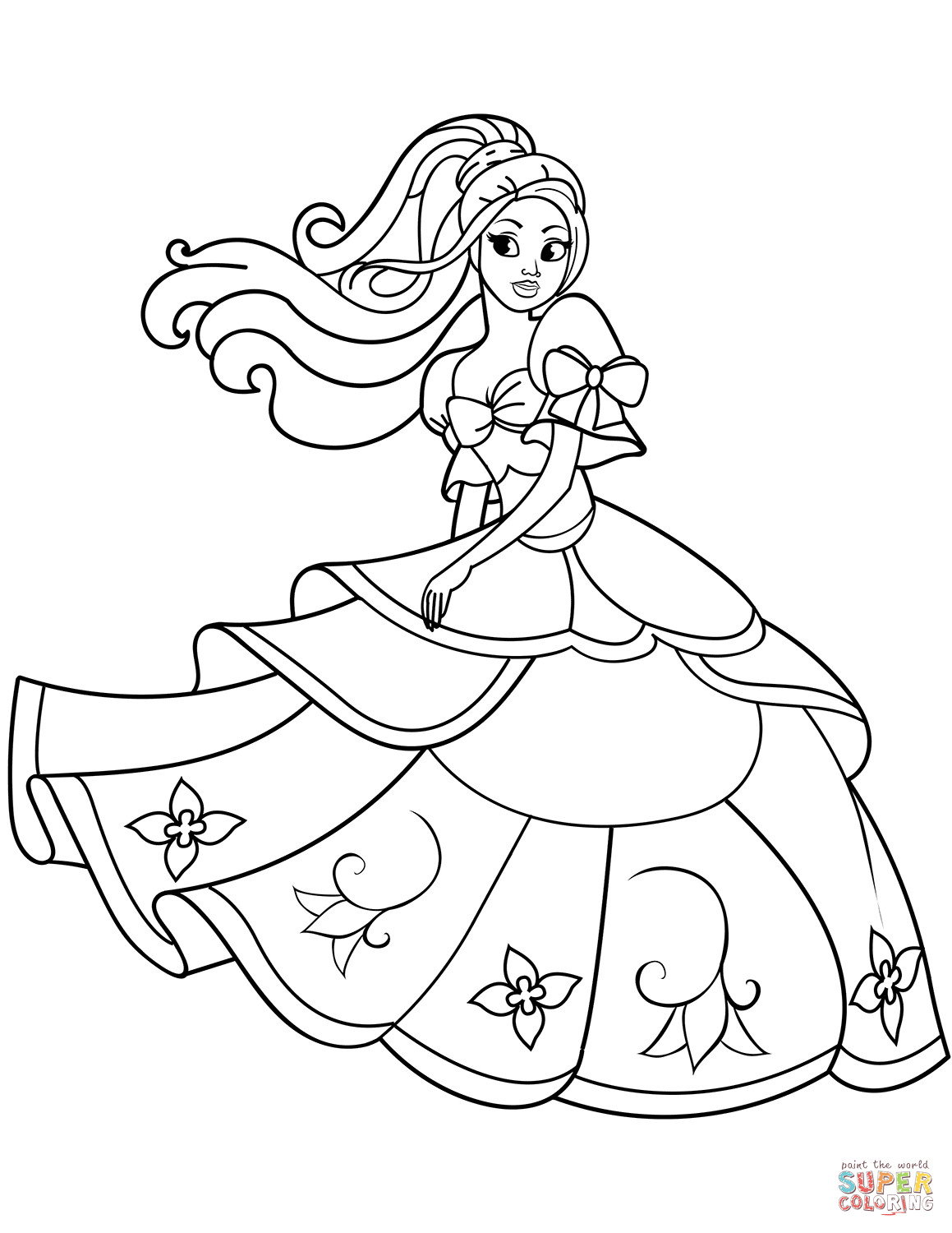 Best ideas about Printable Coloring Pages Princess . Save or Pin Dancing Princess coloring page Now.