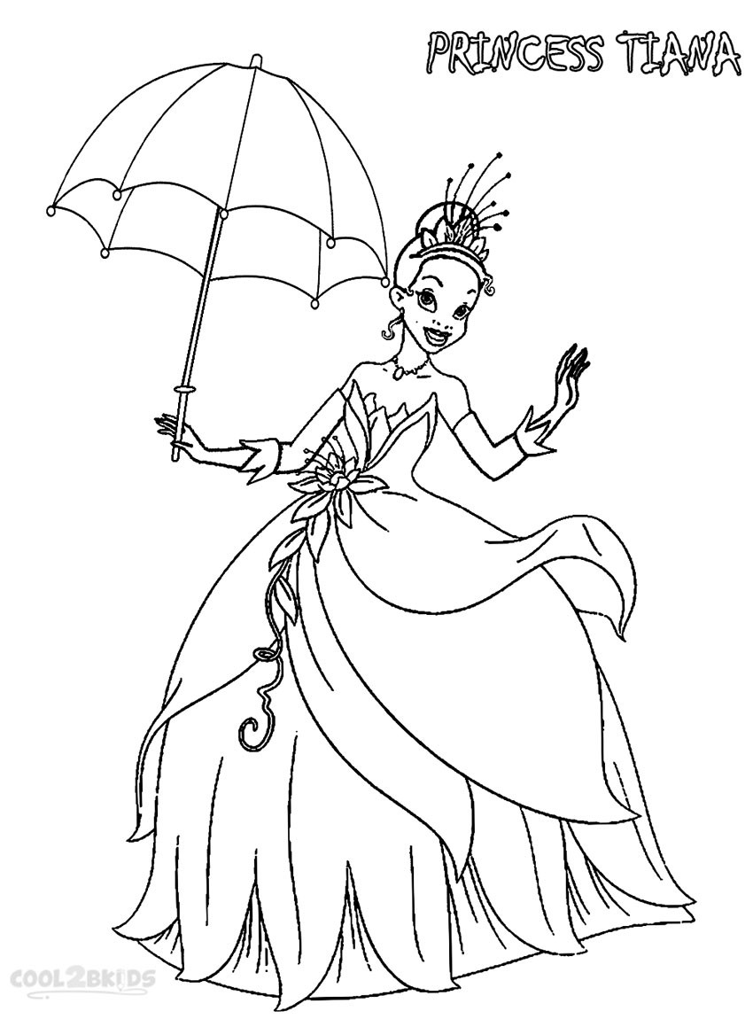 Best ideas about Printable Coloring Pages Princess . Save or Pin Printable Princess Tiana Coloring Pages For Kids Now.