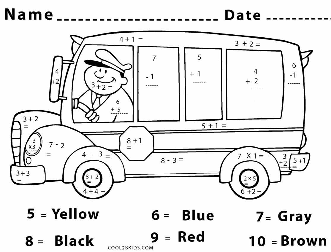 Best ideas about Printable Coloring Sheets For Kids With Math . Save or Pin Free Printable Math Coloring Pages For Kids Now.