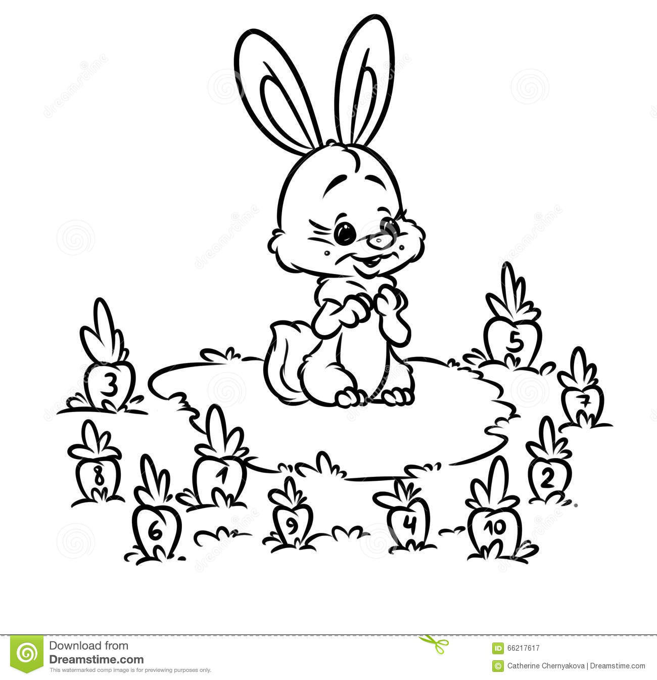 Best ideas about Printable Coloring Sheets For Kids With Math . Save or Pin Rabbit Carrot Math Kids Coloring Pages Stock Illustration Now.