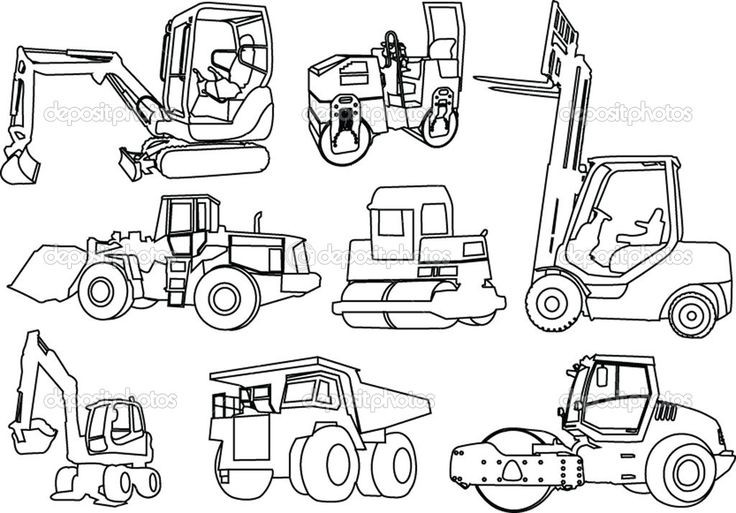 Best ideas about Printable Tractor Coloring Pages For Boys . Save or Pin Printable Coloring Pages of Construction Equipment Now.