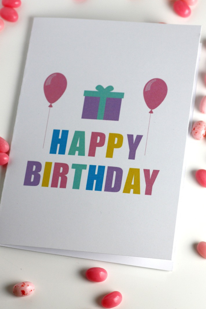 Best ideas about Printout Birthday Card . Save or Pin Free Printable Blank Birthday Cards Now.