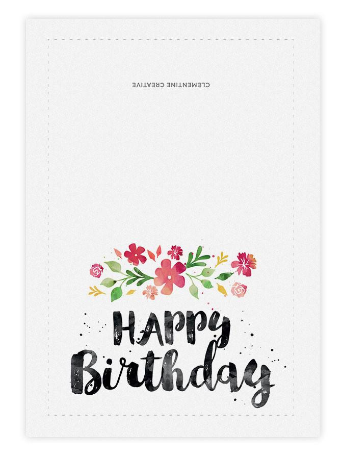Best ideas about Printout Birthday Card . Save or Pin Printable Birthday Card Spring Blossoms – Clementine Now.