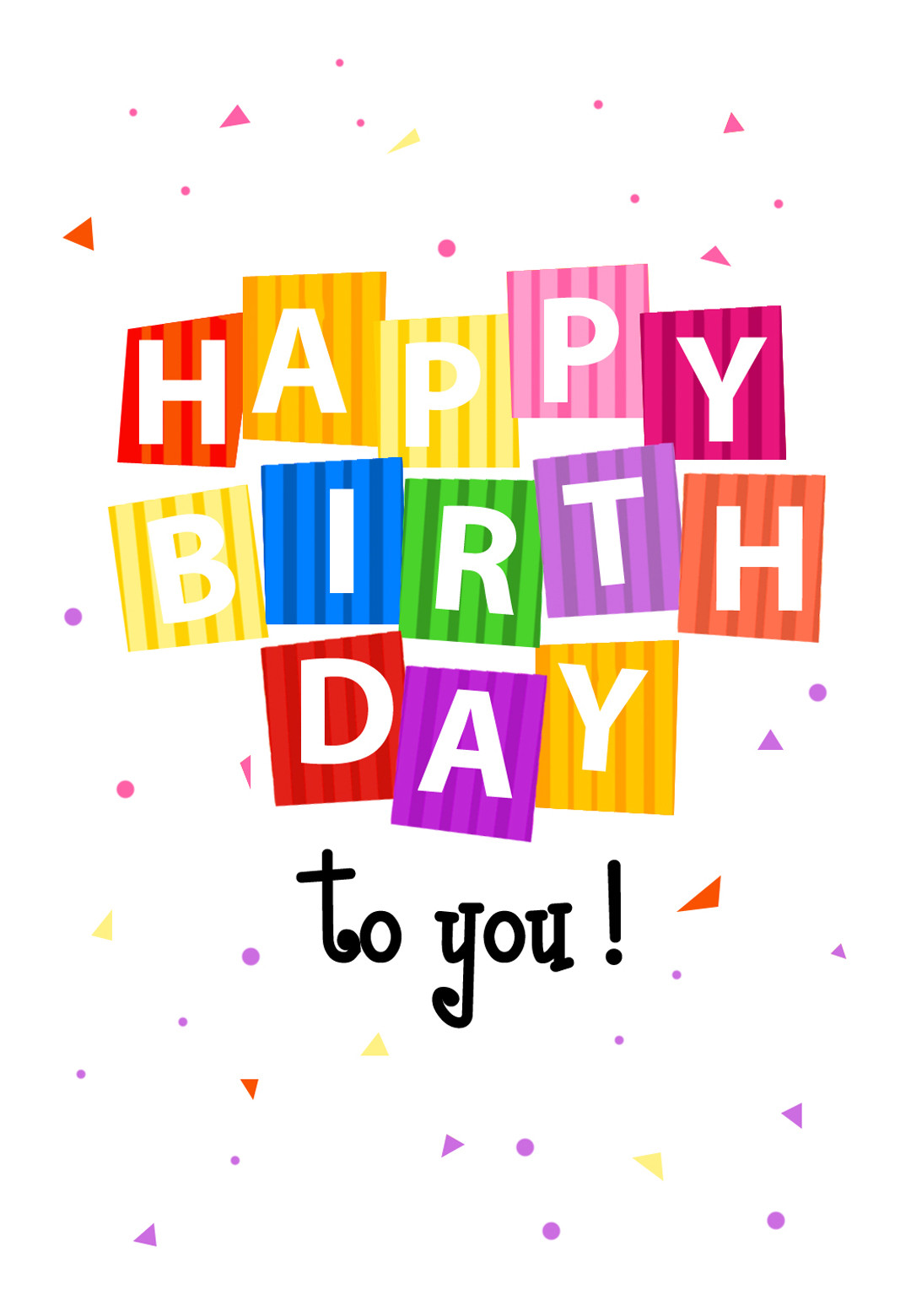 Best ideas about Printout Birthday Card . Save or Pin Confetti Birthday Card Now.
