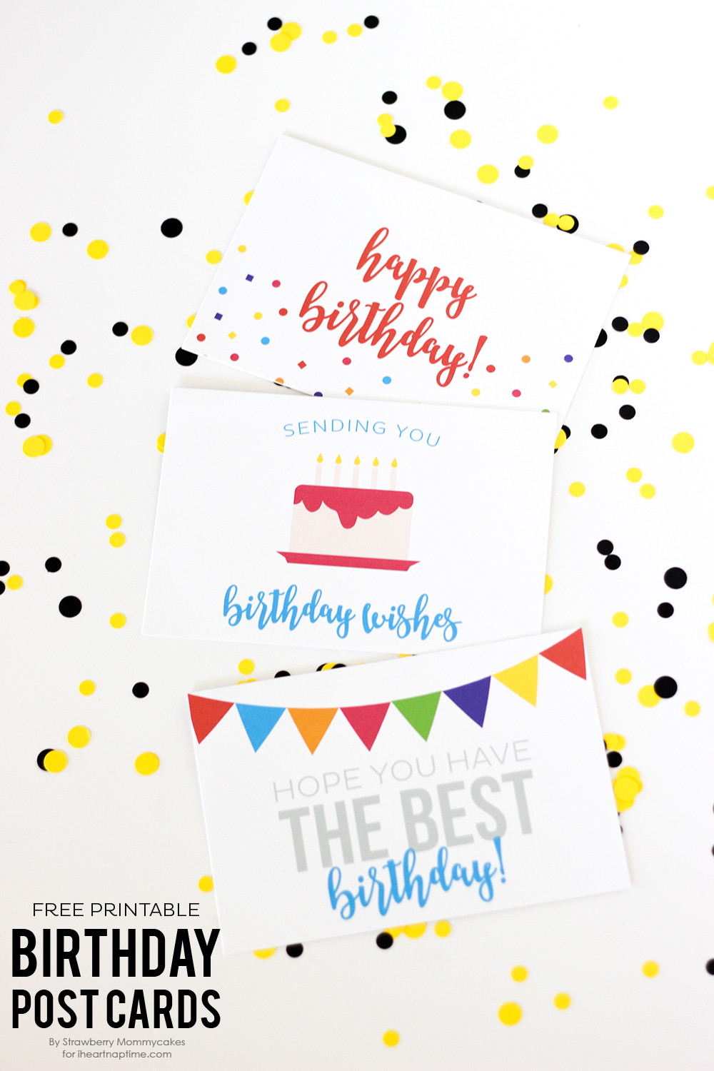 Best ideas about Printout Birthday Card . Save or Pin Free Birthday Printables Eighteen25 Now.