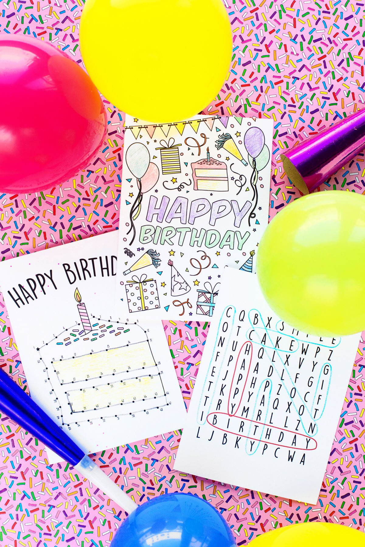 Best ideas about Printout Birthday Card . Save or Pin Free Printable Birthday Cards for Kids Studio DIY Now.