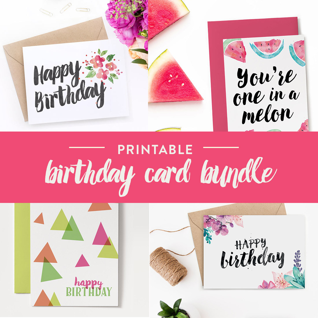 Best ideas about Printout Birthday Card . Save or Pin Printable Birthday Cards – Bundle Now.