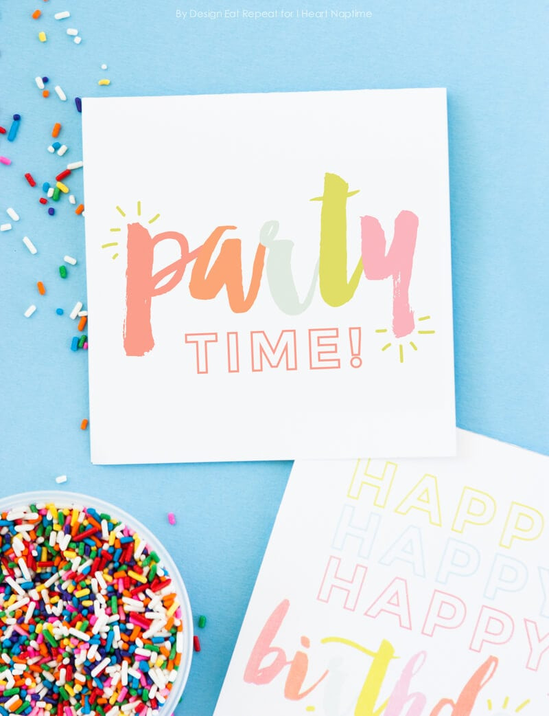 Best ideas about Printout Birthday Card . Save or Pin Free Printable Birthday Cards I Heart Nap Time Now.