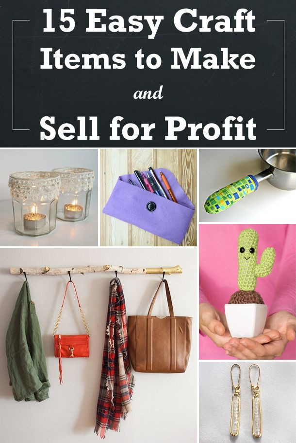 Best ideas about Profitable Craft Ideas . Save or Pin 15 Easy Craft Items to Make and Sell for Profit Now.