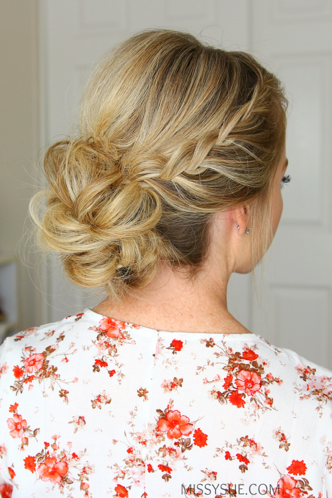 Best ideas about Prom Bun Hairstyles . Save or Pin Double Lace Braids Updo Now.