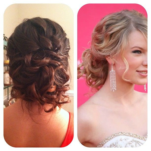 Best ideas about Prom Bun Hairstyles . Save or Pin prom home ing updo low messy bun inspired by Taylor Now.