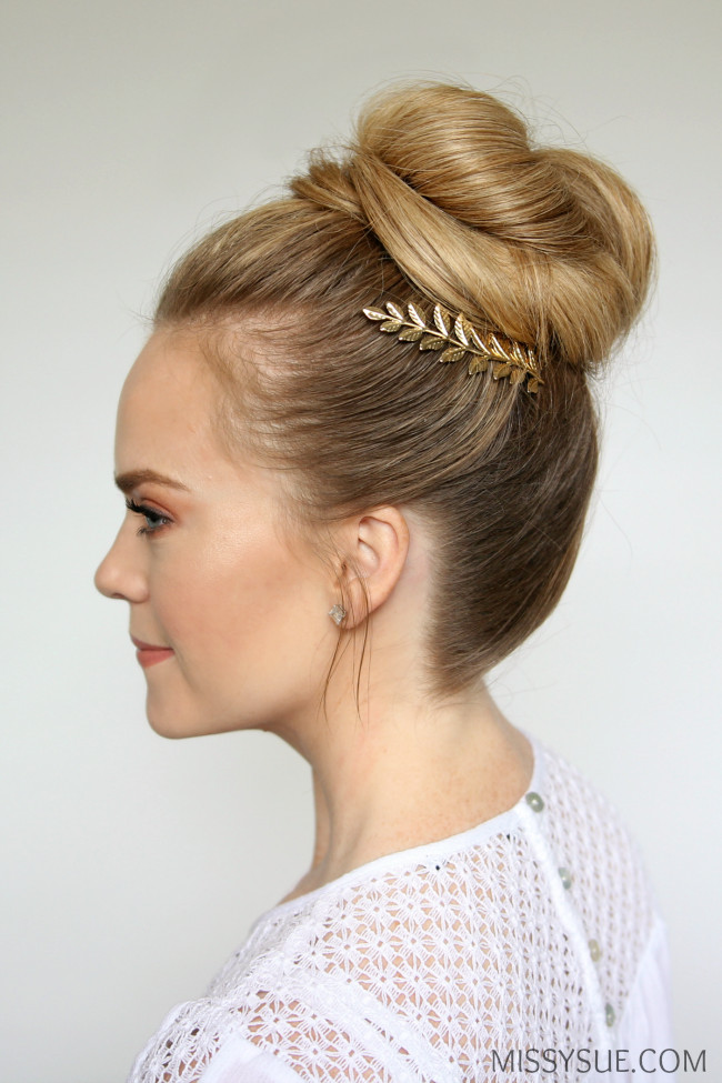 Best ideas about Prom Bun Hairstyles . Save or Pin 3 Easy Prom Hairstyles Now.