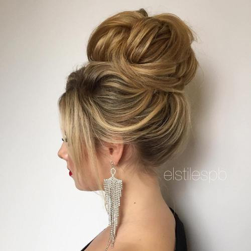 Best ideas about Prom Bun Hairstyles . Save or Pin 40 Most Delightful Prom Updos for Long Hair in 2019 Now.