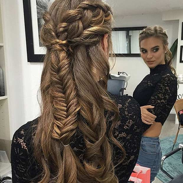 Best ideas about Prom Down Hairstyles . Save or Pin 31 Half Up Half Down Prom Hairstyles Now.