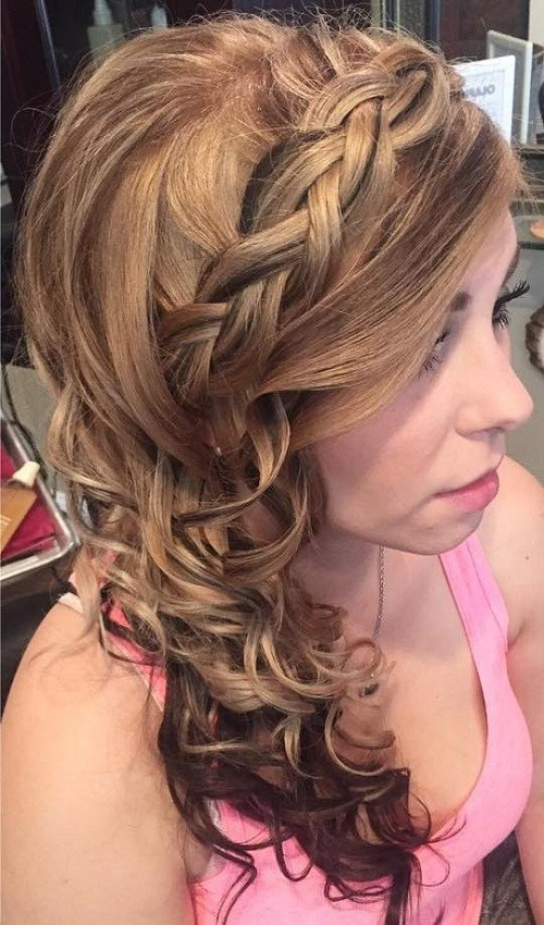 Best ideas about Prom Hairstyle Curly . Save or Pin 45 Side Hairstyles for Prom to Please Any Taste Now.