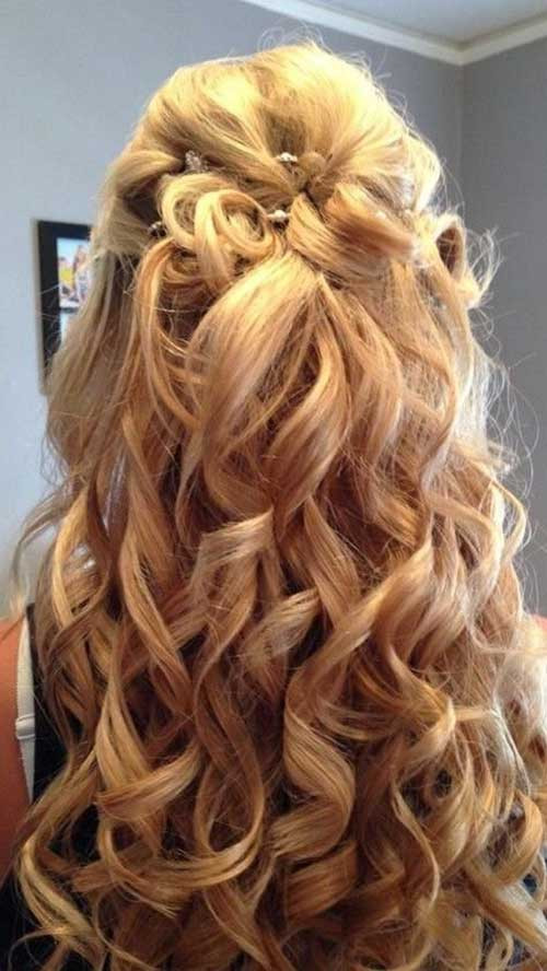 Best ideas about Prom Hairstyle Curly . Save or Pin 30 Best Half Up Curly Hairstyles Now.