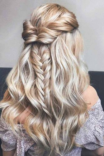 Best ideas about Prom Hairstyle Half Updos . Save or Pin Prom Hairstyles for Long Hair to Look Gorgeous crazyforus Now.