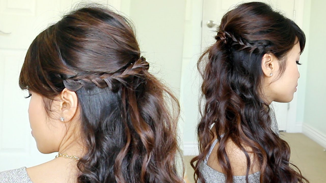 Best ideas about Prom Hairstyle Half Updos . Save or Pin Prom Hairstyle Braided Half Updo feat NuMe Reverse Now.